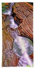 Watkins Glen - Rainbow Falls 005 Beach Towel