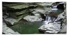 Beach Towel featuring the photograph Watkins Glen State Park by John Schneider