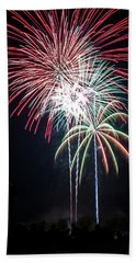 Waukesha Fireworks 01 Beach Towel