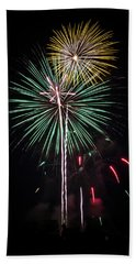 Waukesha Fireworks 02 Beach Towel