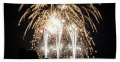 Waukesha Fireworks 06 Beach Towel