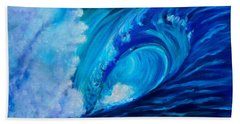 Beach Sheet featuring the painting Wave 11 by Jenny Lee