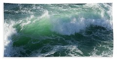 Wave At Montana De Oro Beach Towel by Michael Rock