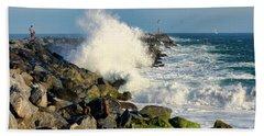 Wave Crash At The Wedge Beach Towel