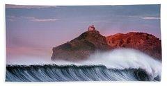 Wave In Bakio Beach Sheet