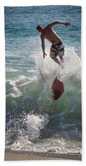 Wave Skimmer Beach Towel by Jim Gillen