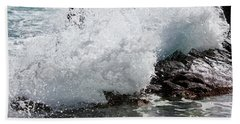 Wave Smash Beach Towel