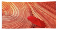 Beach Towel featuring the photograph Wave Umbrella by Norman Hall