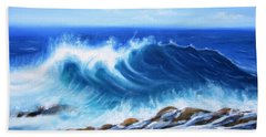 Wave Beach Towel by Vesna Martinjak