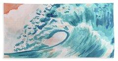 Wave Beach Sheet by Whitney Morton