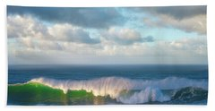 Beach Towel featuring the photograph Wave Length by Darren White
