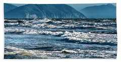 Waves At Populonia Promontory - Onde Al Promontorio  Beach Towel
