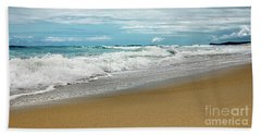 Beach Sheet featuring the photograph Waves Clouds And Sand By Kaye Menner by Kaye Menner