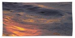 Waves Dawn Reflections Beach Towel