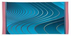Beach Towel featuring the digital art Waves by Leo Symon