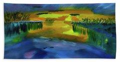 Waves Of Change Beach Towel by Meryl Goudey