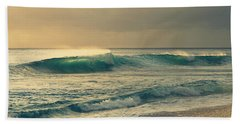 Waves Of Light - Hipster Photo Square Beach Towel