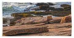 Waves Of Stone Beach Towel