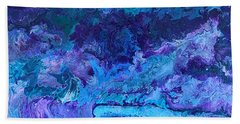 Beach Towel featuring the painting Waves by Robbie Masso