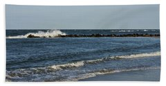 Beach Towel featuring the photograph Waves by Sandy Keeton