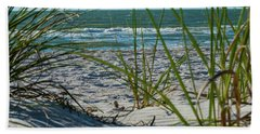 Waves Through The Grass Beach Towel