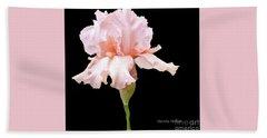 Wavy Pink Iris Ll Beach Sheet