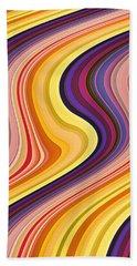 Wavy Stripes 2 Beach Towel