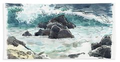 Wawaloli Beach, Hawaii Beach Towel