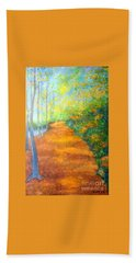 Way In The Forest Beach Towel