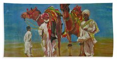 Way Of Life Beach Sheet by Khalid Saeed