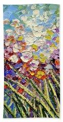 Beach Towel featuring the painting Way To Fairyland by Tatiana Iliina