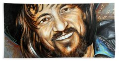 Waylon Jennings Beach Towel