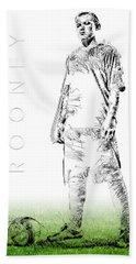 Wayne Rooney Beach Towel by ISAW Gallery