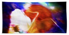 Wayne Shorter   Digital Watercolor Paintings Beach Towel
