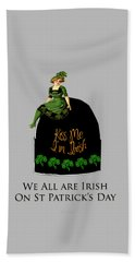 Beach Towel featuring the digital art We All Irish This Beautiful Day by Asok Mukhopadhyay