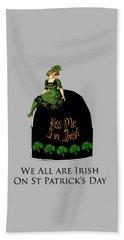 We All Irish This Beautiful Day Beach Sheet by Asok Mukhopadhyay