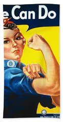 We Can Do It Rosie The Riveter Poster Beach Towel