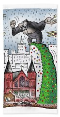 King Kong Kristmas Beach Towel