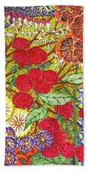 Beach Towel featuring the painting We Will Have Many Blooms #2 by Kym Nicolas