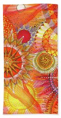 Beach Towel featuring the painting We Will Have Many Suns #2 by Kym Nicolas