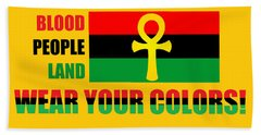 Wear Red Black And Green Beach Towel