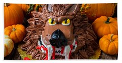 Wearwolf Cake Beach Towel by Garry Gay