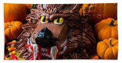 Wearwolf Cake With Pumpkins Beach Towel by Garry Gay
