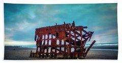 Weathered Rusting Shipwreck Beach Towel