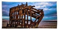 Weathered Shipwreck Beach Towel