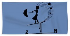 Beach Towel featuring the photograph Weathergirl by Rasma Bertz