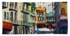 Waverly Place Beach Towel by Tom Simmons