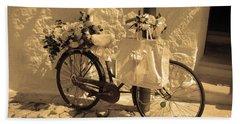 Wedding Bike Beach Towel