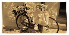 Wedding Bike Beach Sheet