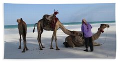 Wedding Camels In The Waiting ... Beach Towel